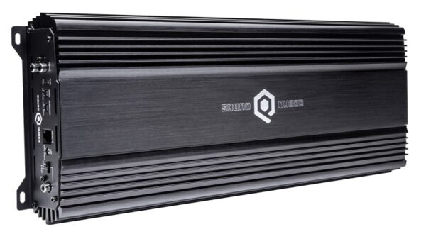 S1-2250.1 2300 Watt RMS @ 1 Ohm Monoblock Amplifier viewed from top down at an angle.