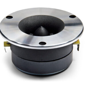 SoundQubed QP-TH25 Super Tweeter, Featuring 4 Ohm 25mm Voice Coils, 75 Watt RMS, 150 Watt Peak Power, viewed from the side.