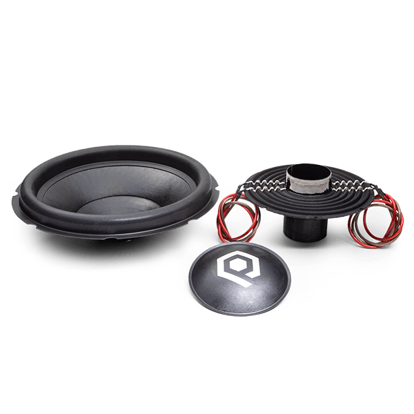 Recone Kit for HDC4 Series Subwoofers with 2000 Watts RMS, 6000 Watts Peak Power, viewed from front.