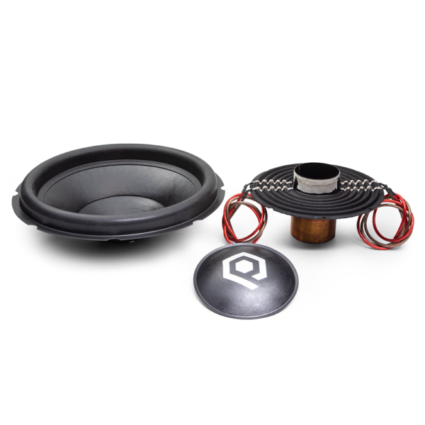 Recone Kit for HDX3 Series Subwoofers with 1500 Watts RMS, 4500 Watts Peak Power, viewed from front.