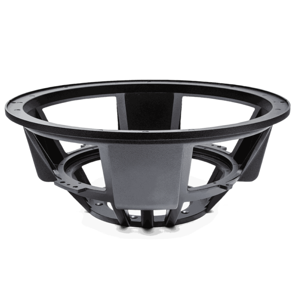 Basket for reconing HDX3 and HDX4 Series Subwoofers, as well as for HDC3.1 and HDC4 Series Subwoofers with a 145mm, double bolt pattern. Viewed from front.