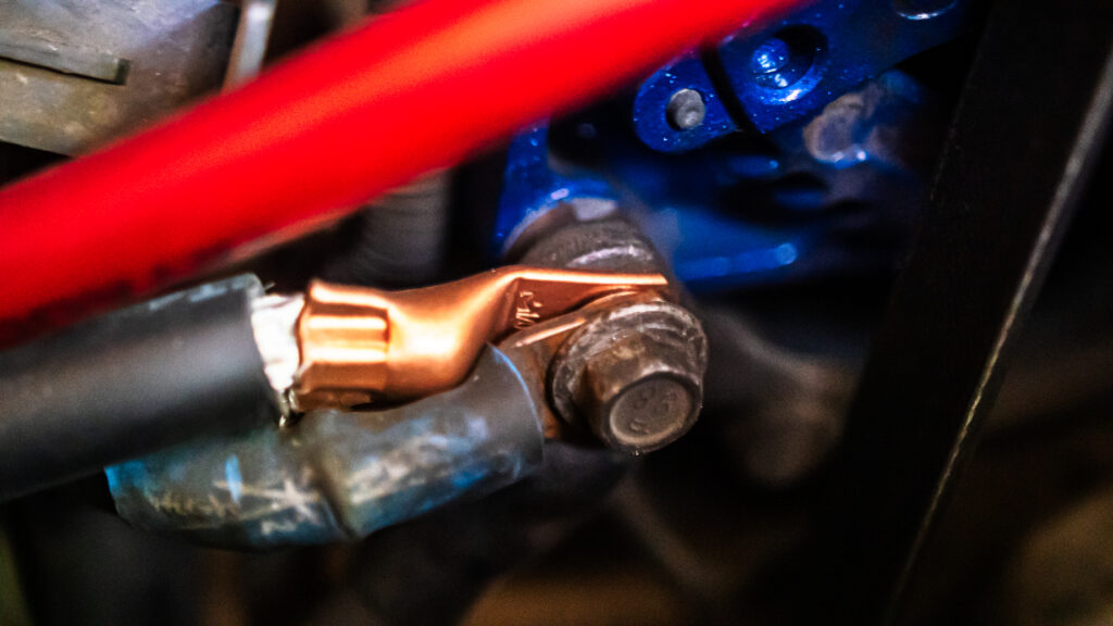 Picture of Alternator To Engine Wiring Using 1/0 AWG Q-Zero Power-Ground Wire