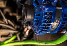 Blue High Output Alternator