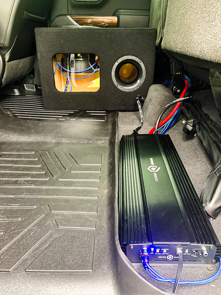 Brett's S1-2250 and subwoofer enclosure.