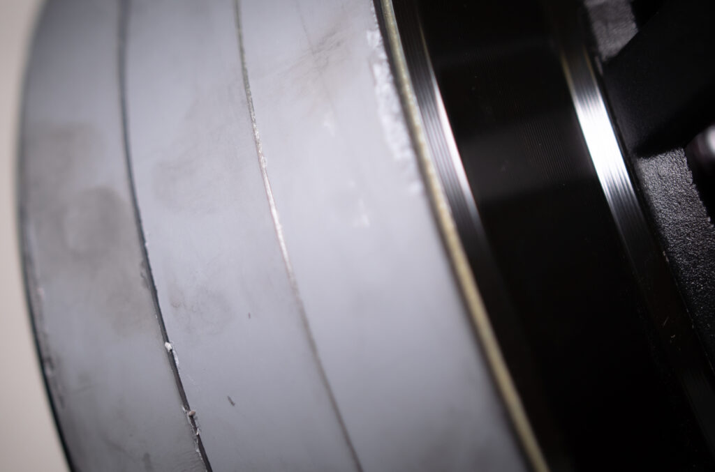 Close up view of Subwoofer Motor.