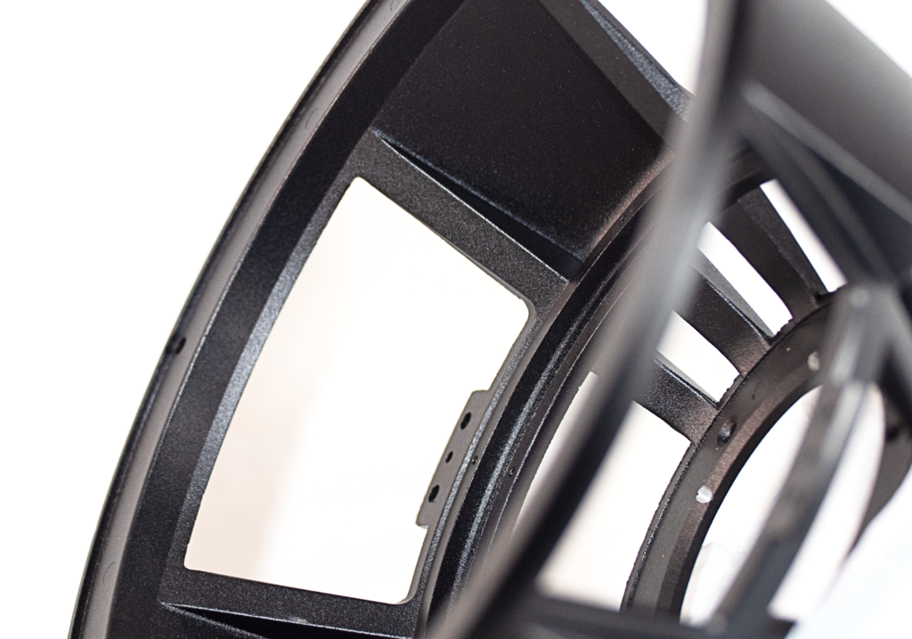 Perspective view of Subwoofer Basket.